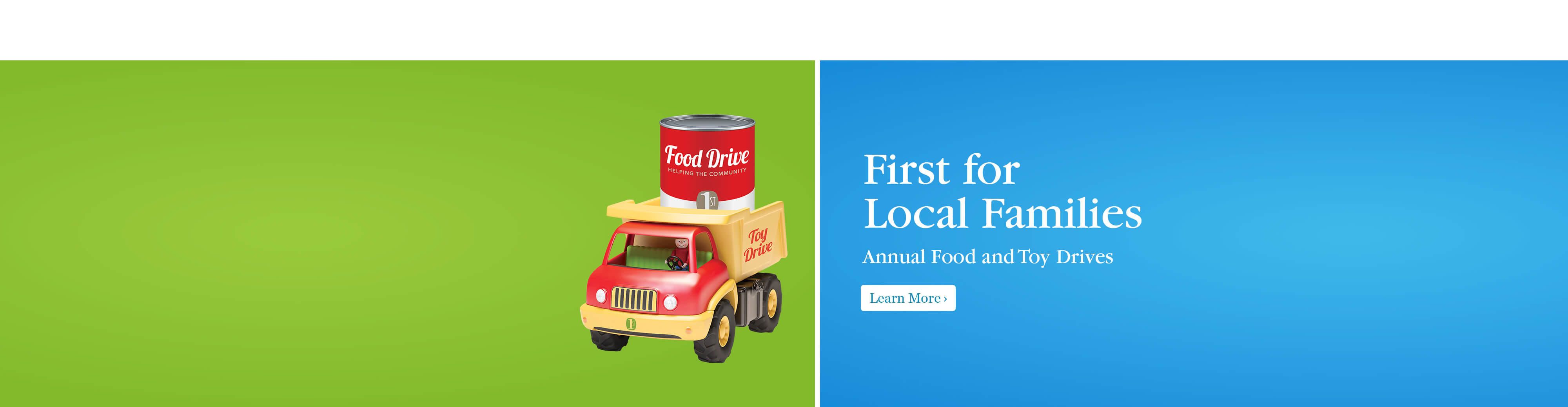 First for Local Families Food November 1 to November 30